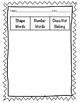 Math Content Word Sorts