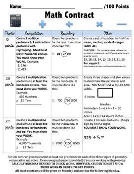 Math Contract 3