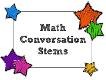 Math Conversation Stems