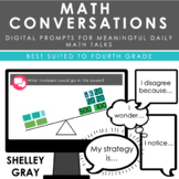 Math Conversations | Fourth Grade | Daily Prompts for Mean