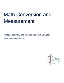 Math Conversion and Measurement Lesson
