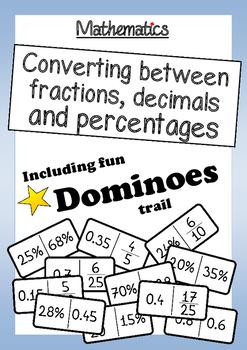 Math: Converting Between Fractions, Decimals and Percentag