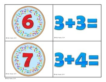 Math & Cookies- a math matching center