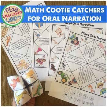 Math Cootie Catchers Oral Narration Exercises