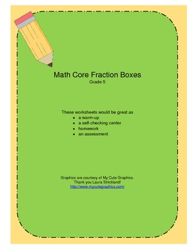 Math Core Fraction Boxes