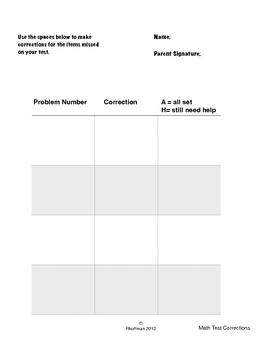 Math Corrections