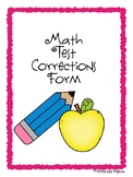 Math Corrections Form