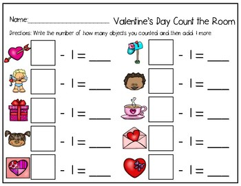 Math Count the Room Valentine's Day Edition
