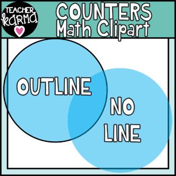 Math Counters Clipart, Transparent