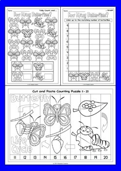 Math Counting Activities Bundle - How Many?
