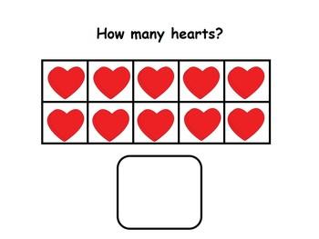 Math Counting Activities - Ten Frames, Interactive Reader, Kindergarten; Autism;