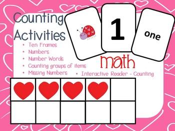 Math Counting Activities - Ten Frames, Interactive Reader,