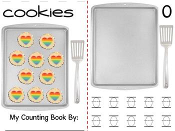 Math Counting Book: Baking Cookies - Rainbow Hearts