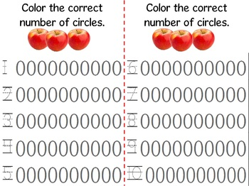 Math Counting Book: Basket of Apples