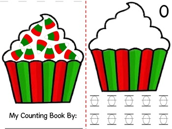 Math Counting Book: Cupcakes with Candy Corn