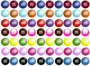 Math Counting Book: Candy Jar - M&M's