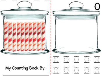 Math Counting Book: Candy Jar and Peppermint Sticks
