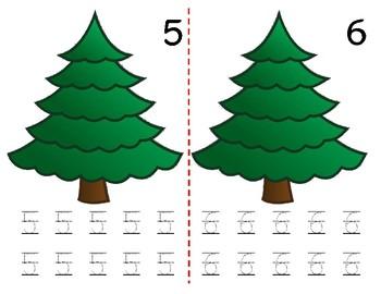 Math Counting Book: Christmas Tree