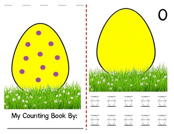 Math Counting Book: Easter Egg
