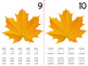 Math Counting Book: Fall Leaf & Bugs