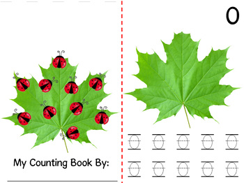 Math Counting Book: Maple Tree Leaf & Ladybugs
