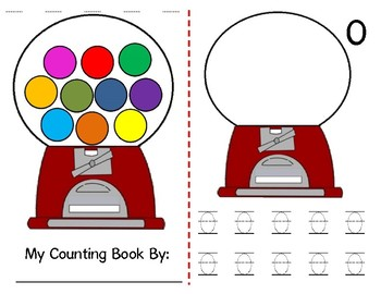 Math Counting Book: Gumball Machine