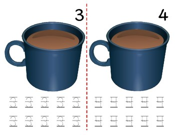Math Counting Book: Hot Chocolate & Marshmallows