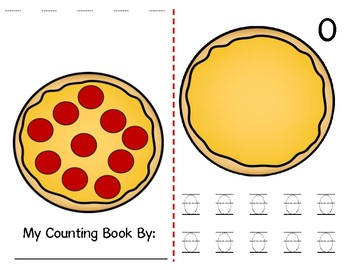 Math Counting Book: Pizza