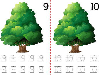 Math Counting Book: Tree & Bluebirds