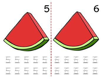 Math Counting Book: Watermelon