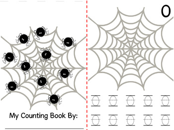Math Counting Book: Web & Cute Spider