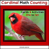Math Counting Cards 1 - 10 & Hands-on Activities / Cardinals / Montessori Style