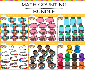 Math Counting Clip Art Bundle
