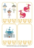 Math Counting Clip Cards - Dragons, Knights & Princesses - Numerals 0-10