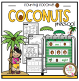 Math Counting Coconuts Worksheets & Pocket Chart Cards