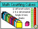 Math Counting Cubes Clipart- for personal and commercial use