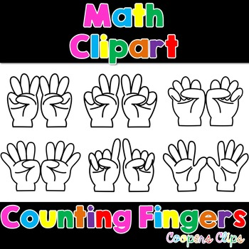 Math: Counting Fingers Clipart