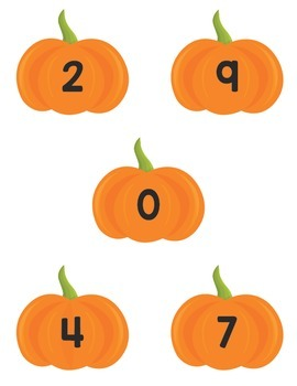 Math Counting Mats- Pumpkin Themed