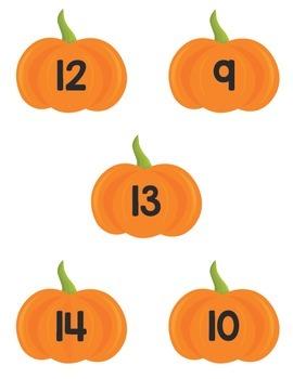 Math Counting Mats- Pumpkin Themed