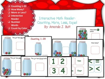Math: Counting, More, Less, Equal; How Many; Interactive Reader