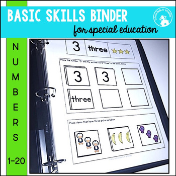 Counting, Numbers Binder