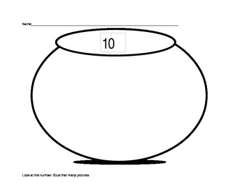 Math Counting Objects- Numbers to 10 (K.CC) A Cut and Paste Activity