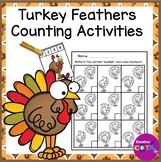 Math Counting Turkey Feather Activities
