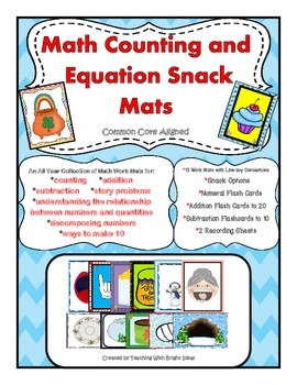 Math Counting and Equation Snack Mats