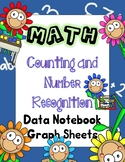 Math Counting and Number Recognition Data Notebook Graph Sheets for kindergarten