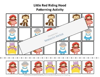 Math: Counting and Patterning Little Red Riding Hood
