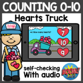 Math Counting to 10 Boom Cards | Valentine's Day Boom Card