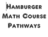 Math Course Pathways: Hamburger Style