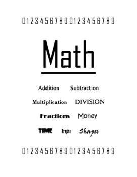 Math Cover