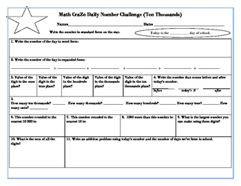 Math CraZe Daily Number Challenge